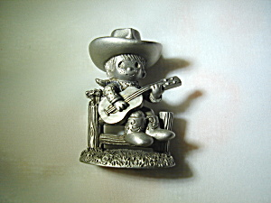 Precious Moments Pewter Cowboy Figurine