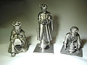 Hudson Pewter Three Kings Figurines (Pewter Miniatures) at