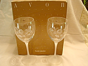 Avon Humming Bird Goblets Set Of 2