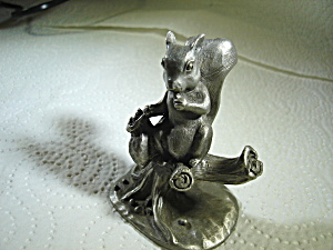 Fw And Company Pewter Squirrel