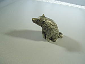 Hudson Pewter Noah's Ark Badger