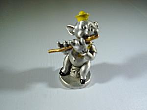 Hudson Pewter Pig Figurine
