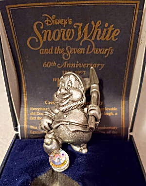 Snow White Happy Pewter Figurine