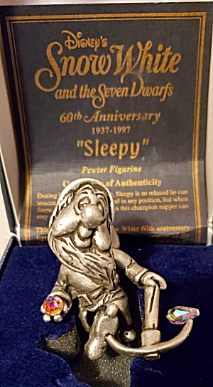 Snow White Sleepy Pewter Figurine