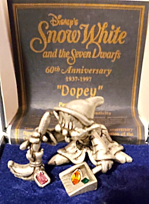 Snow White Dopey Pewter Figurine