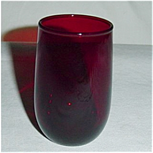 Ruby Red Juice Glass