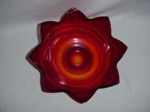 Ruby Flower Shaped Bowl
