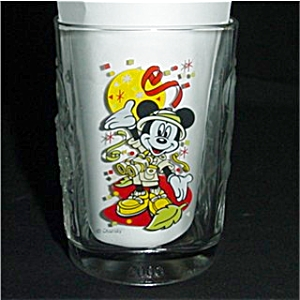 Mickey 2000 Mcdonald's Walt Disney Glass