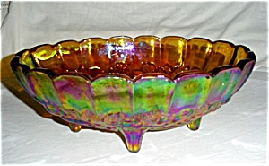 Indiana Glass Amber Carnival Fruit Bowl