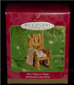 Mrs. Claus's Chair Hallmark Ornament (Image1)