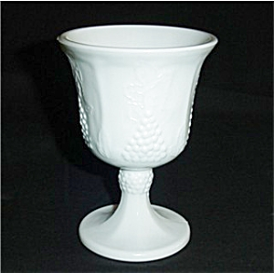 Indiana Glass Milk Glass Goblet