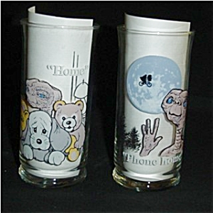 1982 Pizza Hut E.t. Collectors Series Glasses