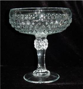 Indiana Glass Diamond Point Compote