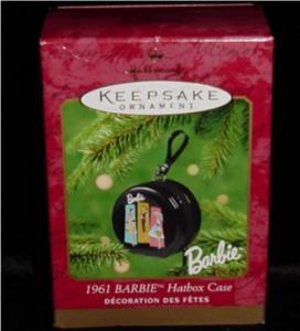 1961 Barbie Hatbox Case Hallmark Ornament (Image1)