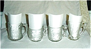 McDonalds Flintstones Mugs Set of 4 (Image1)