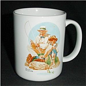 Norman Rockwell Fishing Coffee Mug (Image1)