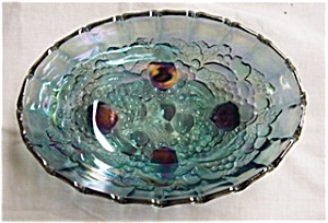 Indiana Glass Blue Carnival Fruit Bowl