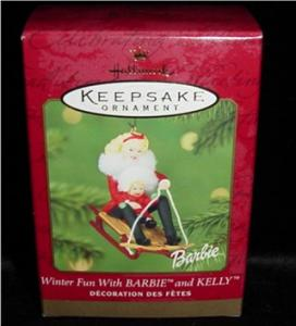 Winter Fun  Barbie & Kelly Hallmark Ornament (Image1)