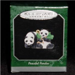 Peaceful Pandas Miniature Hallamark Ornament (Image1)