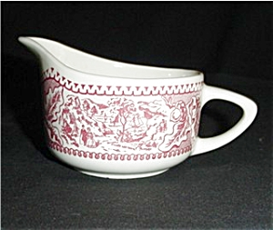 Pink Currier and Ives Creamer (Image1)