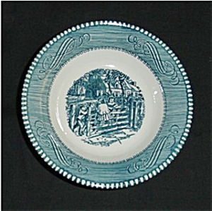 Blue Currier and Ives Bowl (Image1)