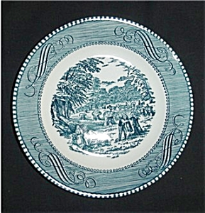 Blue Currier and Ives Bread and Butter Plate (Image1)