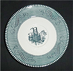 Blue Currier and Ives Saucer (Image1)