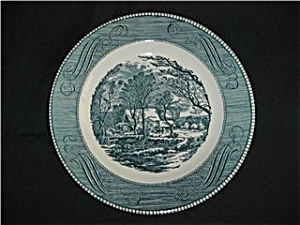 Royal China Currier and Ives Dinner Plate (Image1)