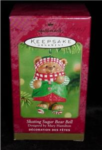 Skating Sugar Bear Bell Hallmark Ornament (Image1)
