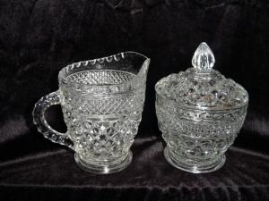 Anchor Hocking Wexford Sugar And Creamer Set