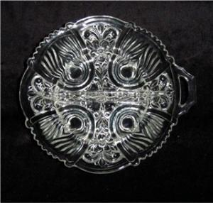 Indiana Glass Relish Dish 2 Part