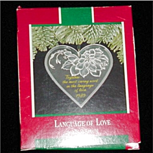 Language of Love Hallmark Ornament (Image1)
