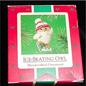 Ice Skating Owl Hallmark Ornament (Image1)
