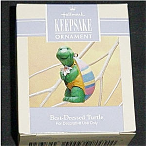 1993 Best Dressed Turtle Hallmark Ornament