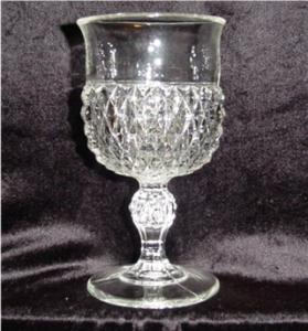 Indiana Glass Diamond Point Water Goblet (Image1)