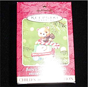 2001 Baby's 2nd Christmas Hallmark Ornament (Image1)