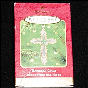 2001 Beautiful Cross Hallmark Ornament (Image1)