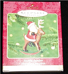 2001 Rocking Reindeer Hallmark Ornament (Image1)