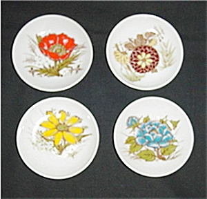 Miniature Floral Design Plates Set of 4 (Image1)