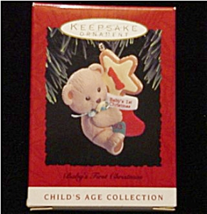 1993 Baby's 1st Christmas Hallmark Ornament (Image1)