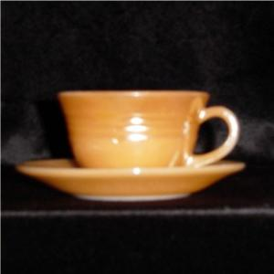 Fire King Copper Tint Cup and Saucer (Image1)