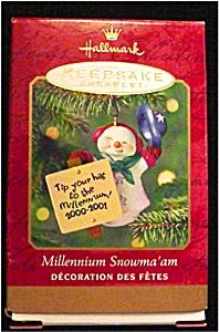 2000 Millenium Snowman Hallmark Ornament (Image1)