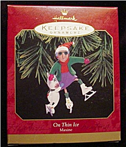 1999 Maxine On Thin Ice Hallmark Ornament (Image1)