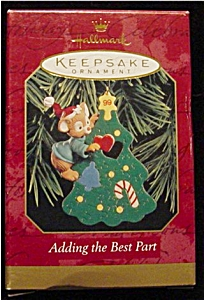 1999 Adding the Best Part Hallmark Ornament (Image1)