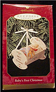 1999 Baby's 1st Christmas Hallmark Ornament (Image1)