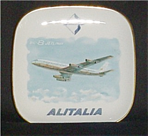 DC-8 Airliner Alitalia Verbano Plate (Image1)