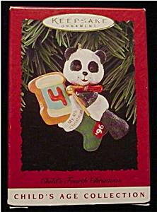 1996 Child's 4th Christmas Hallmark Ornament (Image1)