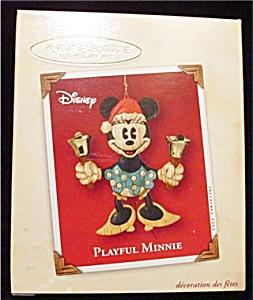 2002 Playful Minnie Hallmark Ornament (Image1)