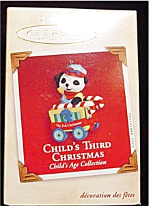 2002 Child's 3rd Christmas Hallmark Ornament (Image1)