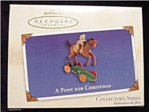 2002 A Pony for Christmas Hallmark Ornament (Image1)
